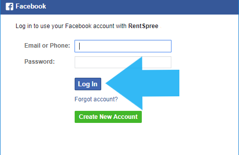 Creating an account with Facebook